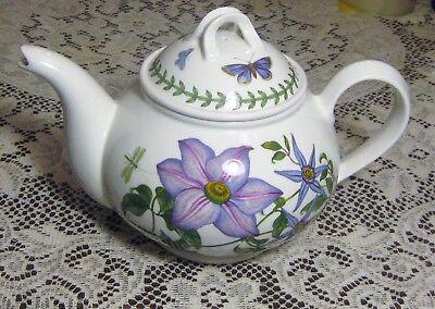 New Portmeirion Botanic Garden Virgins Bower Clematis Teapot