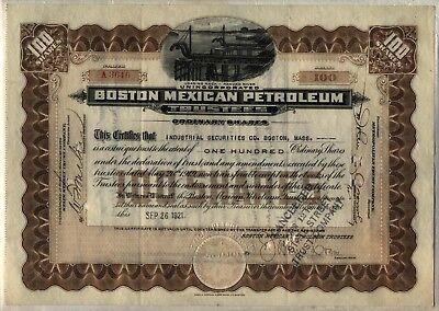 Boston Mexican Petroleum Trustee Stock Certificate