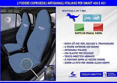COPRISEDILI SMART FORTWO FODERE FODERINE COPRI SEDILE PER AUTO 451 A MISURA SET