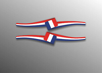 French Sticker  Flag Stripe Euro Car Window Bumper Dash Vinyl Decal 03 (French Flag Bumper Sticker)