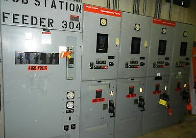 Ge Electric 4160 Vacuum Limilamp Control Breakers Substation Feeders 4 Wvs