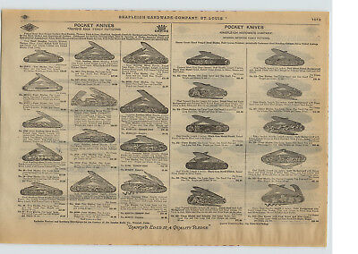 1915 PAPER AD 26 PG Empire Shapleigh Pocket Knife Knives German Sterling Silver