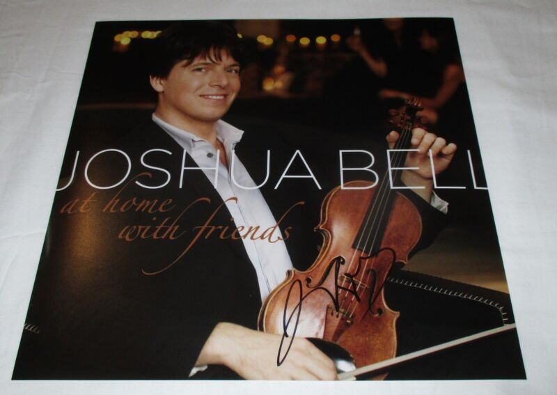 JOSHUA BELL SIGNED AT HOME WITH FRIENDS 12X12 PHOTO