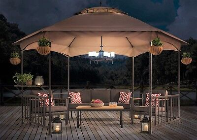Outdoor Gazebo Chandelier or Patio Area Hanging Light Fixture Battery Operated  - Battery Operated Outdoor Chandelier