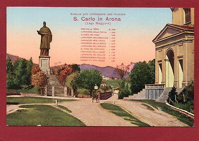 LAGO MAGGIORE UM 1925 S CARLO IN ARONA STATUA PIU COLOSSALE DEL MONDO AK