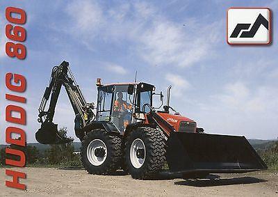 Prospekt GB Huddig 860 Backhoe Loader Baumaschine Lader Baggerlader Bagger