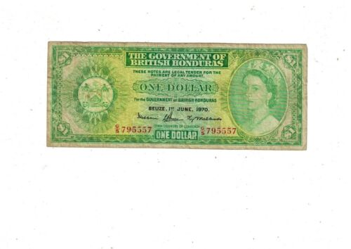Government of British Honduras 1 Dollar 1970 PB1