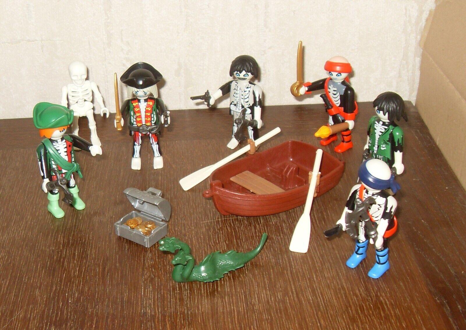 Playmobil  lot de pirates fantome avec barque