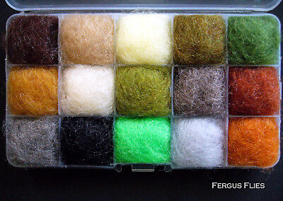 The bug box Antron Dubbing Dispenser Box Fly Tying Natural colors  Worldwide!