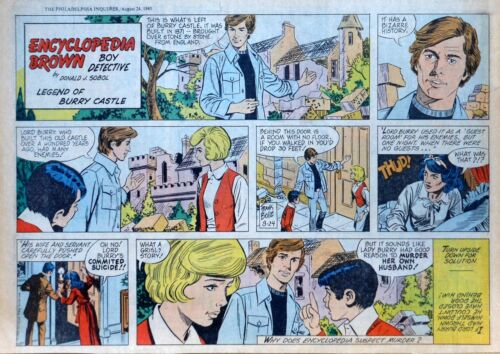 Encyclopedia Brown by Donald Sobol -  half-page Sunday comic - August 24, 1980