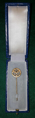 """""""Die Stadt Nürnberg zur Erinnerung"""", Anstecknadel Silber 935, im original Etui"""