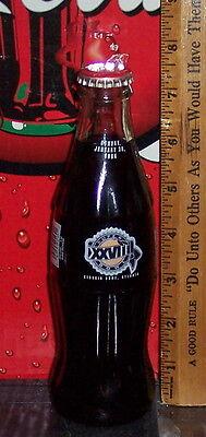 Dome-atlanta, Ga (1993 SUPER BOWL XXVIII GEORGIA DOME ATLANTA GA 1994 8 Oz GLASS COCA COLA  BOTTLE)