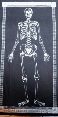 Halloween Fabric Glow in the dark Skeleton Fabric Panel Spider Web Party Decor