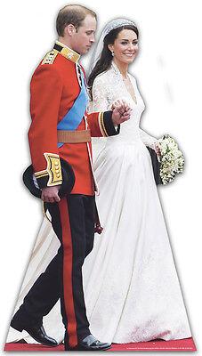 PRINCE WILLIAM KATE (CATHERINE) MIDDLETON ROYAL WEDDING WEDDING DRESS DAY CUTOUT - Royal Prince Attire