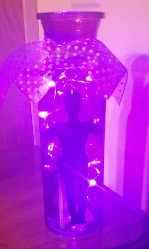 Prince Rogers Nelson Purple Rain Silhoutte Purple Lighted Bottle batteries incl