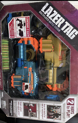 4iger Nerf Lazer Tag 2-Pack Shotgun Multiplayer Battle System and Video Game NIB