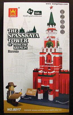 WANGE Building Bricks The Spasskaya Tower of Moscow Kremlin Set 1048 pcs