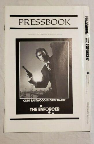 1976 THE ENFORCER CLINT EASTWOOD DIRTY HARRY ORIGINAL COMPLETE PRESSBOOK