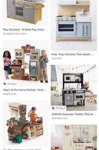 ISO Kids play kitchens and accessories