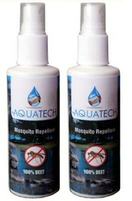 100% DEET Mosquito & Bug Repellent Spray - Aquatech - (2x100ml)