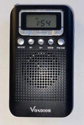AWESOME Digital AM FM Portable Pocket Radio With Alarm Clock- Best Reception