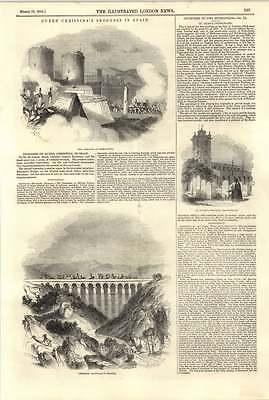 1844 Queen Christina's Progress In Spain St Giles Cripple Gate Crossing Hannibal
