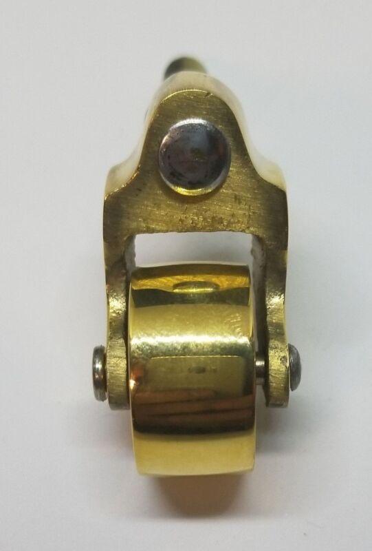 Cast Brass STEM CASTER wheel tea cart table chair trunk chest antique vintage...