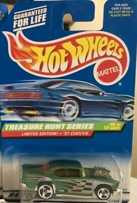 *NEW* HOT WHEELS 1998 TREASURE HUNT #10/12 '57 CHEVY  #758