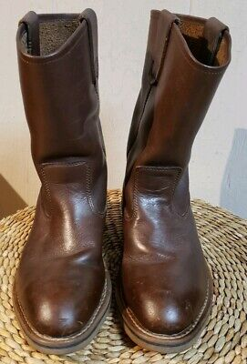 PRE  OWNED BROWN LEATHER IRON AGE WESTERN STEEL TOE WORK BOOTS MENS SIZE 7.5 D