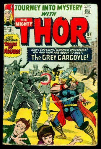 Marvel Comic JOURNEY Into MYSTERY #107 The Mighty THOR 1st Grey Gargoyle VG+ 4.5
