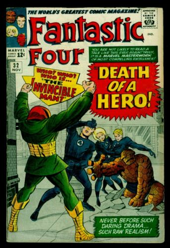 Marvel Comics FANTASTIC FOUR #32 The Invincible Man FN- 5.5
