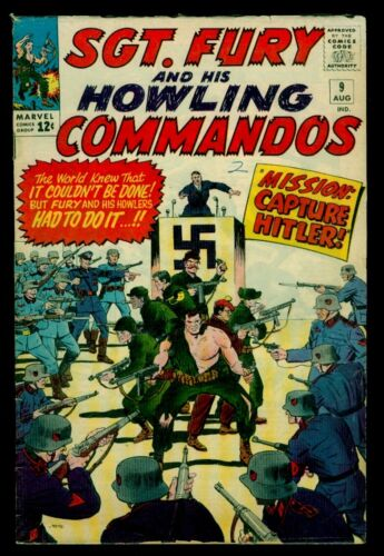 Marvel Comics SGT. FURY And His Howling Commandos #9 Capture Hitler VG/FN 5.0