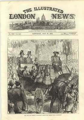 1874 Duke Of Edinburgh Opening Chelsea Thames Embankment