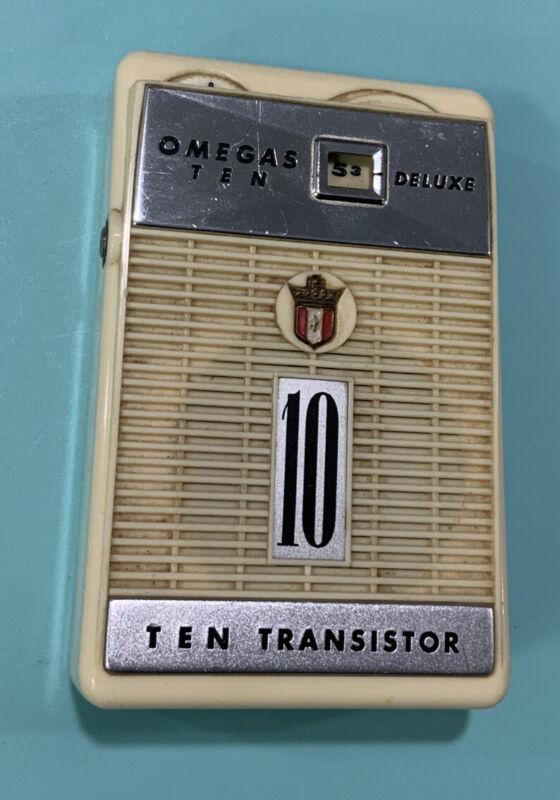 Omegas Ten Deluxe Transistor Radio Vintage 10. Working