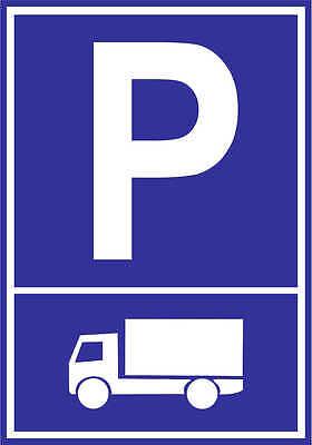 Parkplatzschild - LKW Laster - hochwertiges Alu-Dibond 30x21 cm DE4014 Garage