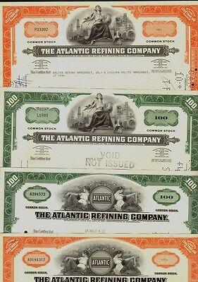 Set of 4 diff. THE ATLANTIC REFINING COMPANY (now Atlantic Richfield / ARCO/BP)