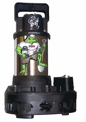 Anjon Big Frog 4200 GPH 1/3 HP Submersible Pond Waterfall Pump BFP4200 fish-safe
