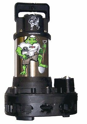 Anjon Big Frog 6300 GPH 1 HP Submersible Pond Waterfall Pump - BFP6300 fish-safe