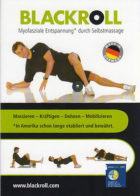 BLACKROLL DAS ORIGINAL Med Weiss/Grün +Übungs-DVD +Übungsanleitung DIREKTVERSAND