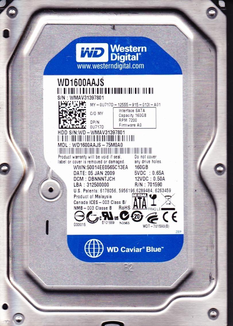 Hard Drive 80GB 160GB 250GB 320GB WD Samsung Seagate SATA