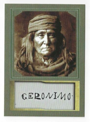 GERONIMO - ACEO TRADING CARD WITH AUTOGRAPH REPRO - MINT CONDITION