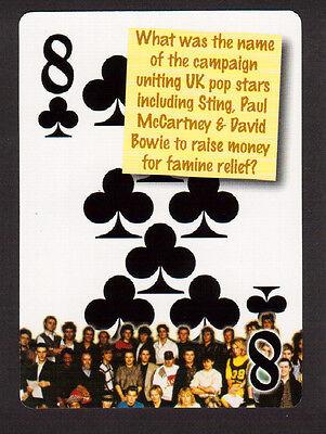 Band Aid Paul McCartney David Bowie Sting Bob Geldof Neat Playing Card -