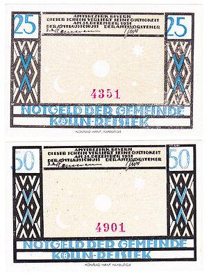 Kölln-Reisiek 25 & 50 Pf. (1921) Grab. 715.1, Erh. I