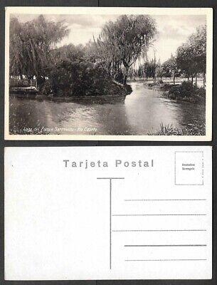 Old Argentina Postcard - Rio Cuarto - Lago del Parque Sarmiento segunda mano  Embacar hacia Argentina