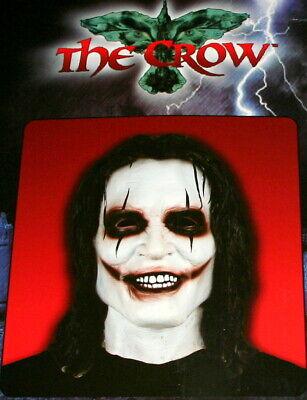 The Crow Halloween (NECA The Crow Brandon Lee Latex Mask Halloween Full Head NOS Box Studio)