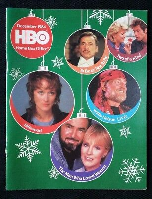 1984 Dec HBO Guide PACINO Streep BURT Bancroft EASTWOOD Movie TV Mag Holiday