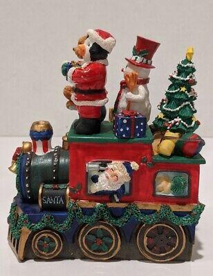 Cardinal Resin Stainless Steel 4pc Spreader Set & Base Christmas Train
