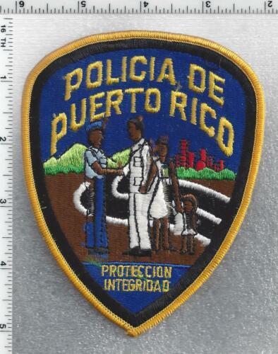 Policia de Puerto Rico Proteccion Integridad Small Letters Shoulder Patch