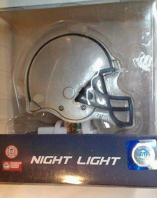 Penn State Nittany Lions Night Light Glass Helmet  4.5 inch Blue & White New   - Lions Glass Night Light