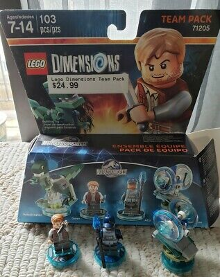 Lego Dimensions Jurassic World Jurassic Park Team Pack 71205 3 minifigs ONLY
